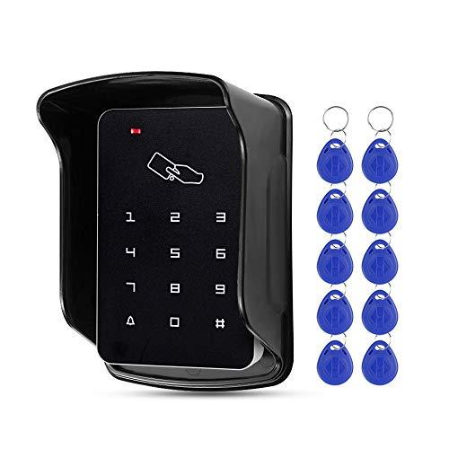 FTSTech Teclado de Control de Acceso digital de 125KHz con Control de Acceso al Aire Libre Adecuado para el Sistema de Seguridad del Hogar+10 Piezas de Ilave Azul(T22)