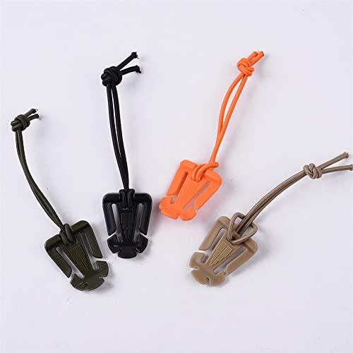 LKJYBG Hebilla de cuerda elástica con clip multifuncional para escalada y mosquetón, de nailon de alta resistencia, color aleatorio