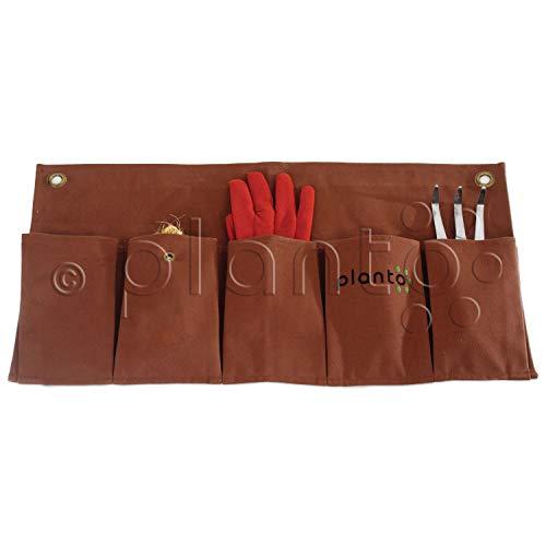 planto Praktische Gartenschürze und Utensilo Organizer Ordnungssystem Hängeorganizer Werkzeughalter