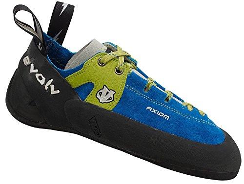 Evolv Axiom Climbing Shoe with Free Climbing DVD ($30 Value) (Men's 7.5) Blue/Green
