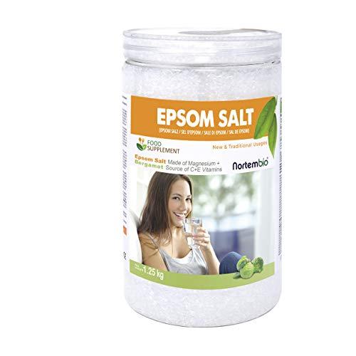 Nortembio Sali di Epsom 1,25 Kg. Qualità Alimentare. Alto Contenuto di Magnesio....