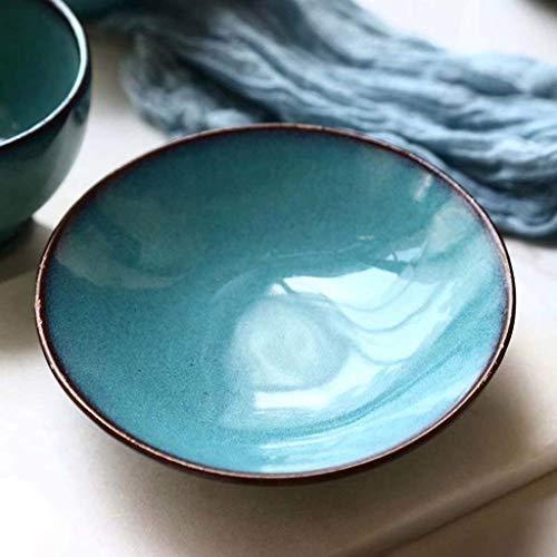 WYZXR Cuenco de cerámica cónico de 6 pulgadas, creativo y seguro cromo sin plomo para el hogar, cocina, desayuno, fruta, ensalada