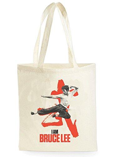 I Am Bruce Lee, Einkaufstasche fürs Einkaufen, Picknick, Zuhause, Lagerung und Schule, tote bag