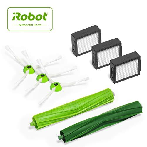iRobot Originalteile - Roomba e- und i-Serie Nachfüllsatz - 3 Hochleistungsfilter, 3 Eck- und Kantenreinigungsbürsten, und 1 Set der Multibodenbürsten - Grün
