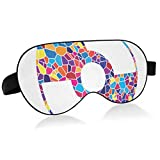 Sleep Mask with Eyes That Block Light and Relieve Dry Eyes Cd DVD Sign Stained Glass Sleeping Mask, Super Soft Eye Mask with Adjustable Strap, Lightweight and Comfortable Bandage, Perfect Blocks for