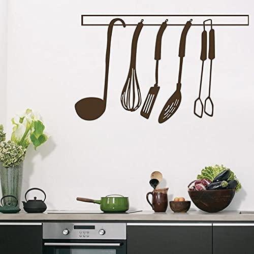 SSCLOCK Etiqueta de la Pared de Vinilo extraíble decoración del hogar Lindo Suministros de Cocina Pizarra 65x42cm