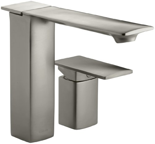 KOHLER K-14774-4-BN Stance Single-Control Bath- Or Deck-Mount Faucet, Vibrant Brushed Nickel