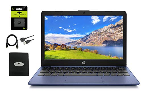 """2020 HP 11.6"""" HD Laptop for Student and Home use, Intel Celeron N4000 (up to 2.6GHz), 4GB RAM, 64GB eMMC, Webcam, WiFi, HDMI, USB-A&C, Win10 S (Google Classroom or Zoom Compatible), w/GM Accessories"""