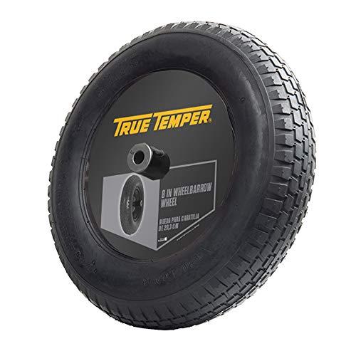 True Temper T22CC 8 in. Hub Tubed Wheelbarrow Tire Wheel with Ribbed Tread, 8-Inch, Black -  The AMES Companies, Inc.