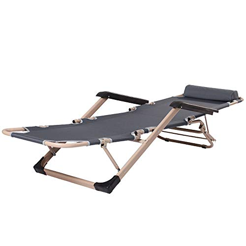 Alppq Sillas Silla al Aire Libre Plegable reclinable Tumbona reclinable Gravedad Cero Bello Jardín Tumbona Plegable con sombrilla de sillón reclinable