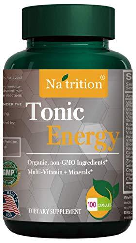 Na'trition Tonic Energy MultiVitamin Capsules - 100 vaggie Capsules