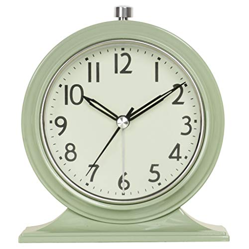 $Digitale Alarm Klok Europese Stijl Klok Retro Mute Woonkamer Decoratie Tafel Klok Creatieve Slaapkamer Nachtkastje Kwarts Klok Groene Verf Thuis Alarm Klok