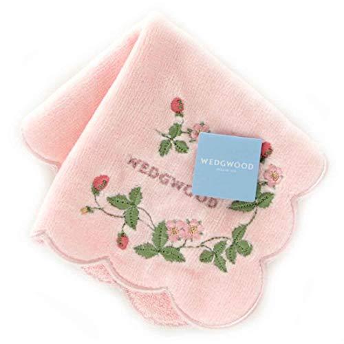 ☆☆ウェッジウッド ワイルドストロベリー ミニタオルハンカチ 5201 ピンク