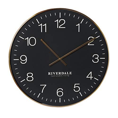Riverdale Wandklok Camden zwart 75cm