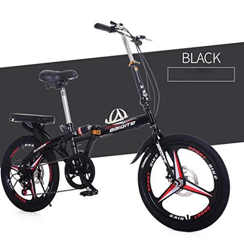 TTLOVE 20 Zoll Mountainbike, Leichtes Mini Faltrad Tragbares Fahrrad Erwachsener Student V-Bremse Fahrrad Gabelfederung Kinderfahrrad,Jungen-Mädchen-Fahrrad & Herren-Damen-Fahrrad