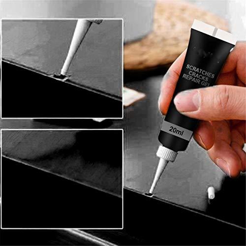 2PCS Wood Floor Scratch Repair für Möbel, DIY Wood Product Scratch Filler Remover, Holzmöbel Touch Up Tool Set, Creme Wax Fast Repair (Schwarz)