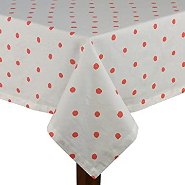 Kate Spade Charlotte Street Hot Coral 60x102 Tablecloth