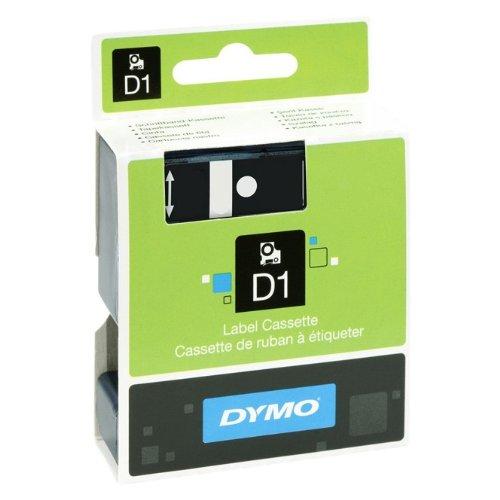 12mm für DYMO LabelPoint 250, Schwarz auf Weiss, Beschriftungsband, Schriftband-Kassette für Label Point 250, Farbband, 7mtr.