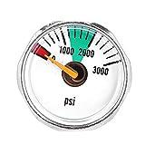 Dewin 3000psi 1/8NPT マイクロ ミニ ゲージ 圧力計 ペイントボール PCPエア コンプレッサ メータ 油圧計 ステンレス鋼製