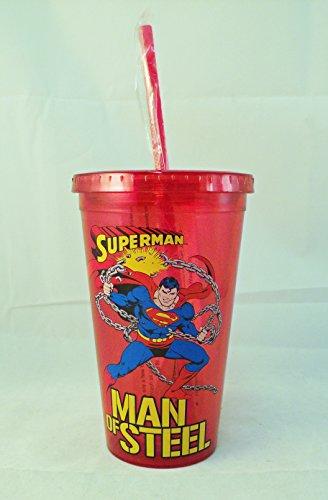 Superman Man of Steel en plastique isolé tasse avec Paille