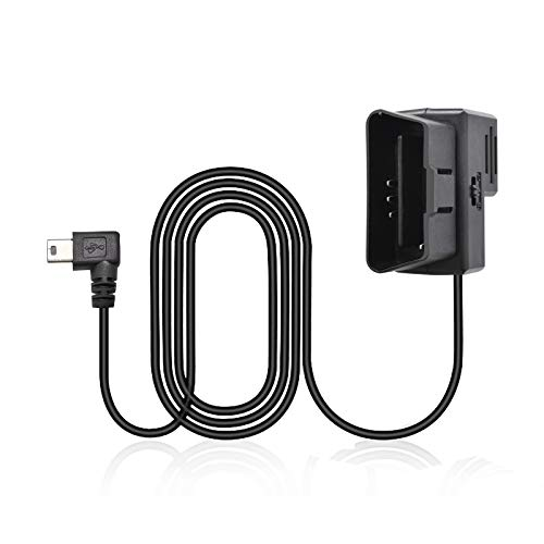 Car OBD Hardwire Kit for Dash Cam, DEEWAZ 12V/24V Mini USB Hardwire Kit with Low Voltage Protection, 24-Hour Mirror Camera Power Cable, Acc/Engine Mode (Micro Adapter Cable Included)
