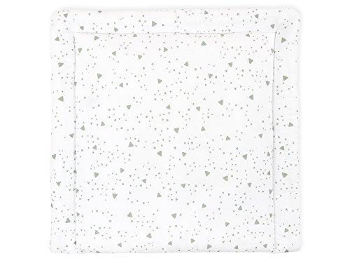 KraftKids Wickelauflage in abgerundete Dreiecke grau, Wickelunterlage 75x70 cm (BxT), Wickelkissen