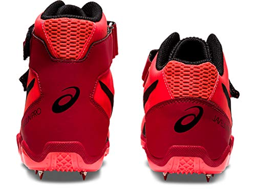 ASICS Unisex Javelin Pro 2 Track & Field Shoes, 9.5W, Sunrise RED/Black