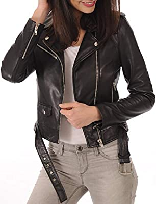 KYZER KRAFT Womens Leather Jacket Bomber Motorcycle Biker Real Lambskin Leather Jacket for Womens from