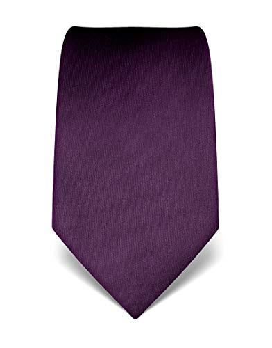 Vincenzo Boretti Corbata de hombre en seda pura, uni púrpura oscuro