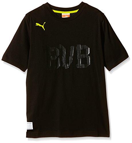 PUMA Kinder T-Shirt BVB Fan, black-blazing yellow, 140, 741479 01