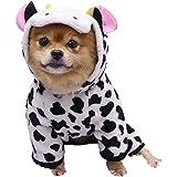 Aztnrwen Disfraz De Sudadera Con Capucha Para Perro, Ropa Adorable De Invierno Para Mascotas Pequeñas Abrigo Para Perros Y Gatos Sudadera De Moda Cálida Ropa Para Perros Para Clima Frío/Vacas