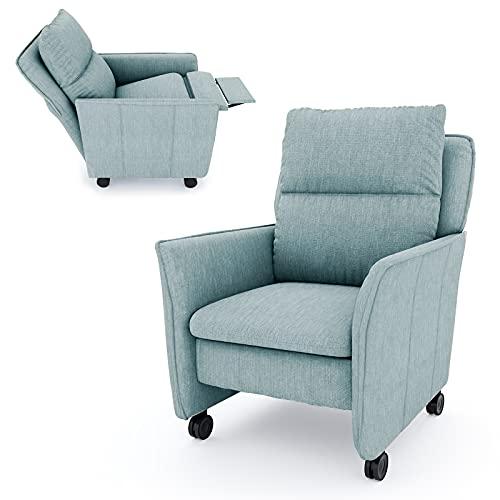 place to be. M18631 - Sillón de relax XXL con función reclinable y función de dormir sobre ruedas para ver la televisión, con ruedas, con protección antimanchas