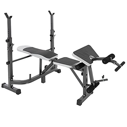ECD Germany Banco de Pesas Musculación Multifuncional Plegable Entrenamiento Completo Máquina Fitness...