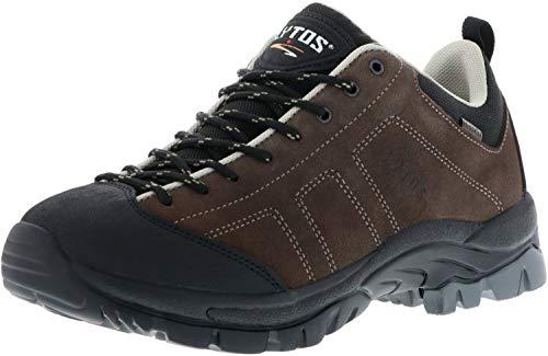 LYTOS Damen Herren Walkingschuhe Trekkingschuhe grau, Größe:43, Farbe:Grau