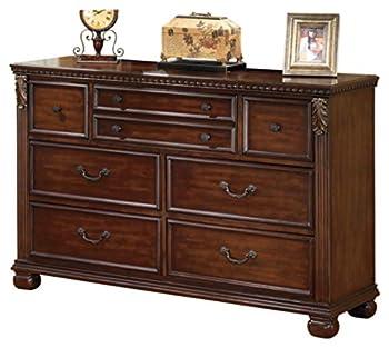 Ashley Furniture Signature Design - Leahlyn Dresser - 7 Drawer - Warm Brown