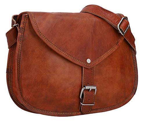 Gusti Handtasche Leder - Charleen Umhängetasche Ledertasche Abendtasche Vintage Braun Leder