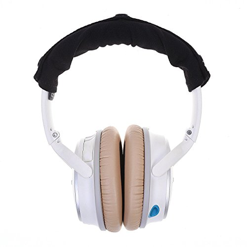 Cosmos Black Soft Cotton Headphone Pad Protective Cover Sleeve, Suitable for Bose QC25, Beats Solo, Beats Solo HD Headphone Headset