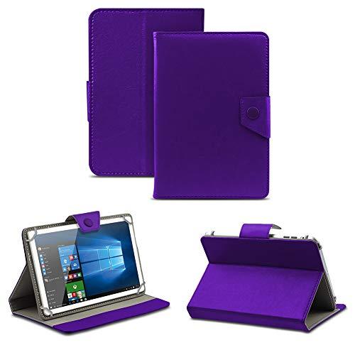 NAUC Universal Tasche Schutz Hülle Tablet Schutzhülle Tab Hülle Cover Bag Etui 10 Zoll, Farben:Lila mit Magnetverschluss, Tablet Modell für:Allview Wi10N PRO 10.1
