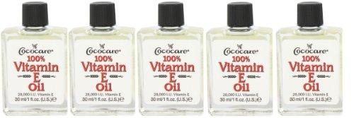 Cococare 100% Vitamin E Oil, 1 oz (Pack of 5)