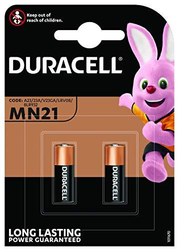 Duracell 2 X 23A,23AE,A23,V23GA,MN21,Lrv08 12V Alkaline Batterien für Auto-Sicherheits-Alarmsysteme und Autoschlüssel