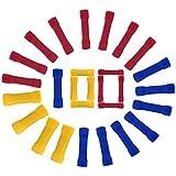 Connettore Filo Elettrico, 100 pezzi Connettore Elettrico, Terminali Elettrici Connettori Crimp per Cavi Elettrici per Cavi Elettrici 0,5-6,0mm² (Rosso+Blu+Giallo)
