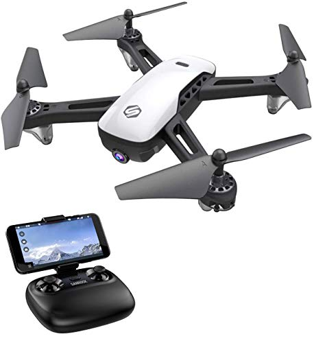SANROCK U52 HD Camera Drones for Kids and Adults, WiFi Live Video, FPV Drone Quadcopter Toy with 720P Full HD Camera for Beginners, App Control, Altitude Hold, Headless Mode, Gravity Sensor, Route Made, 3D Flip, Return Home