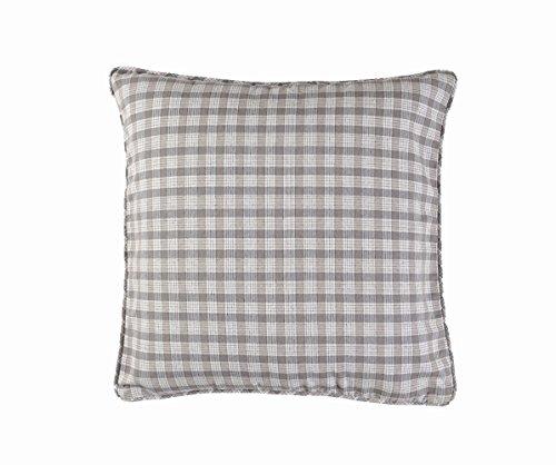 Linum Kissenhülle WINDOW G19 grau kariert 50cm x 50cm aus Baumwolle SONDERPOSTEN