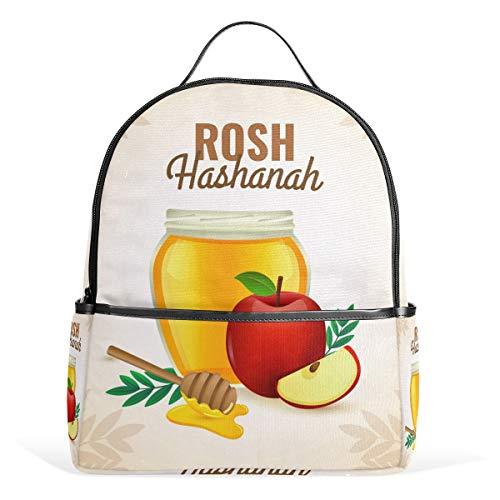 Rosh Hashanah Rucksack mit Apfel und Honig aus Segeltuch für Kinder, Mädchen, Jungen, Kinder, Studenten