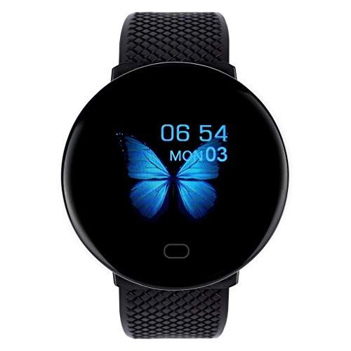 MANjia96COco D19 BT4.0 Smart Watch, Schlafüberwachung Fitness Armbanduhr mit Pulsuhr Fitness Tracker Sportuhr -Wasserdichtes Armband