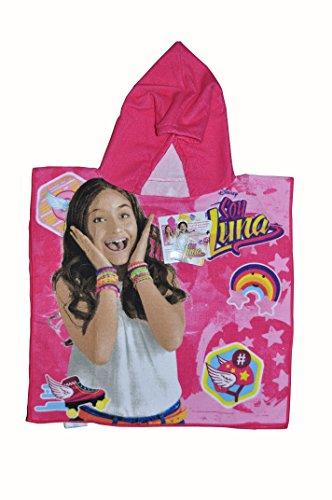Soy Luna - Poncho-Toalla Infantil Microfibra con Capucha, 50 x 100 cm Toalla, 50x50 Poncho, diseño