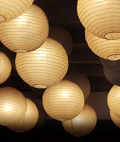 LED Lampion Lichterkette Außen und Indoor - 40 Extra Große Lampions, Warmweiß, Wasserdicht - 10m LED Lichterkette mit 8 Lichteffekten -...