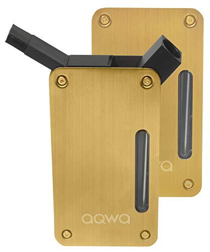 AQWA(アクワ) 携帯 水パイプ 喫煙具 水タバコ ボング (ゴールド)