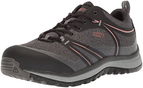 KEEN Utility Women's Sedona Low Industrial Boot, Raven/Rose Dawn, 9 W US