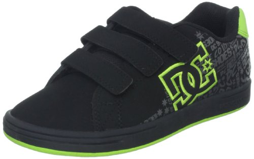 DC Shoes Unisex-Kinder Character V Sneaker, Schwarz/Gelbgrün, 29 EU